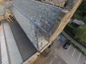 Multicopters helping to document lead theft damage in Yorkshire