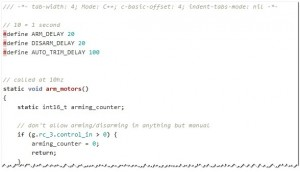 arming code sample