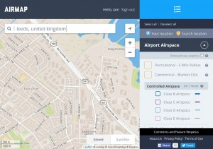 Leeds search on Airmap